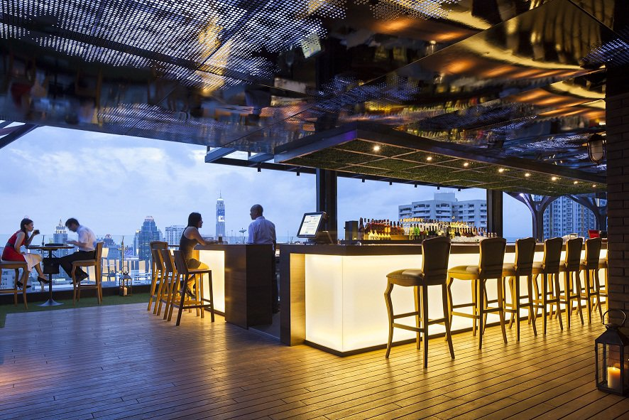 Above Eleven Rooftop Bar in Bangkok