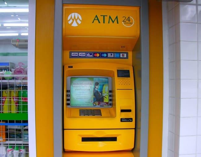 Bankautomat Thailand Krungsri