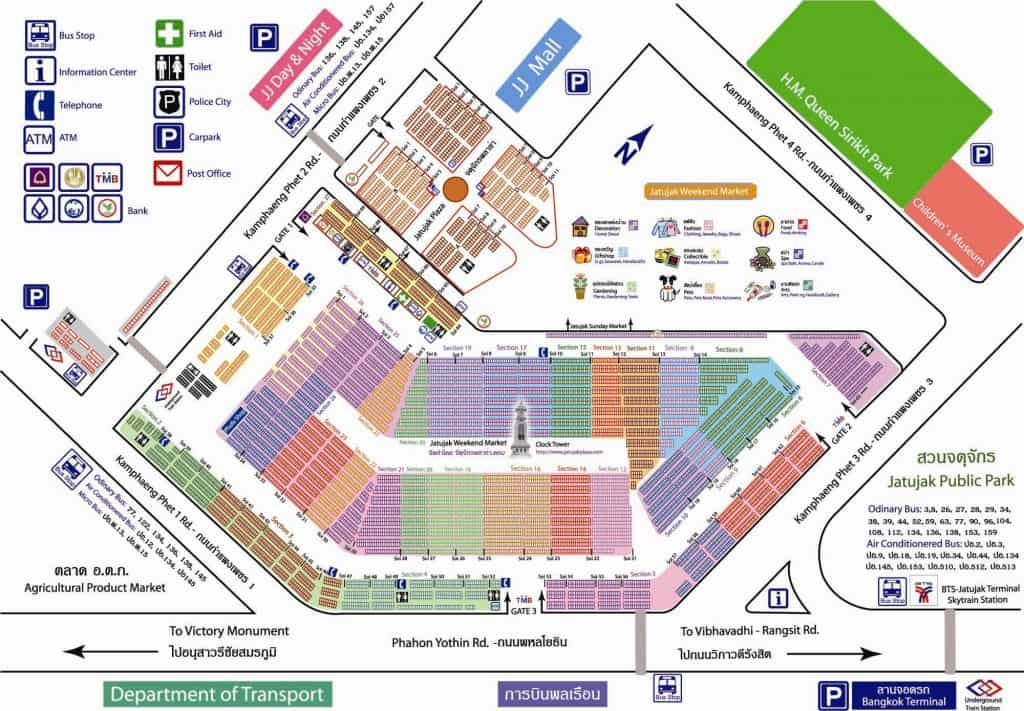 Chatuchak Markt Karte