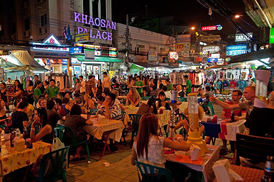 Nachtleben an der Khaosan Road