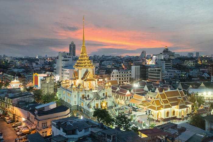 Wat Traimit in der Chinatown in Bangkok